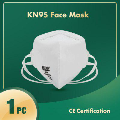 1PC KN95 Face Mask with Elastic Headbands Dustproof Anti-bacteria Anti-virus Disposable Protection
