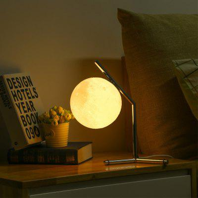 3D Printing Moon Night Lamp Desktop Light for Bedroom Study LED Table Lamp