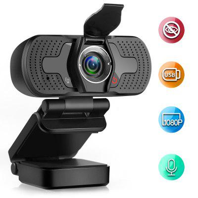 Фото - W8 S Webcam 1080P Computer Camera with Privacy Cover USB Connection Built-in Noise-reduction Microphone for Live Video rich action camera ultra hd 4k 30fps 12mp wifi ipx8 waterproof 45m built in gyro external microphone sports camera