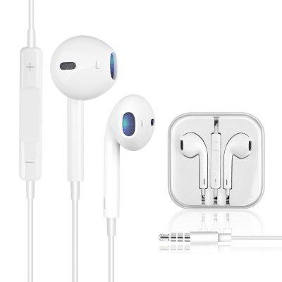 Stereo Sound 3.5mm Jack In-Ear Earphone for iPhone 6S 6 Plus 5S 5 Wire Control Earbud with Mic