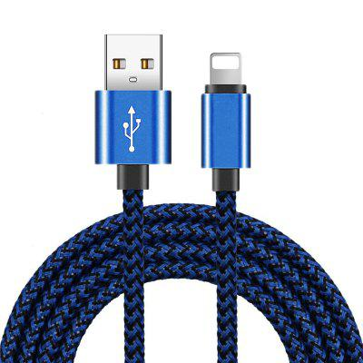 3m 2m 1m Braided USB Charging Data Cable for iPhone 8 7 6 6S Plus X XS Max XR 11 Pro Charger Cables