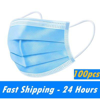 3-Layer Disposable Face Mask Anti-Pollution Safety Dust Filter Non-woven Meltblown Masks Non-Medical