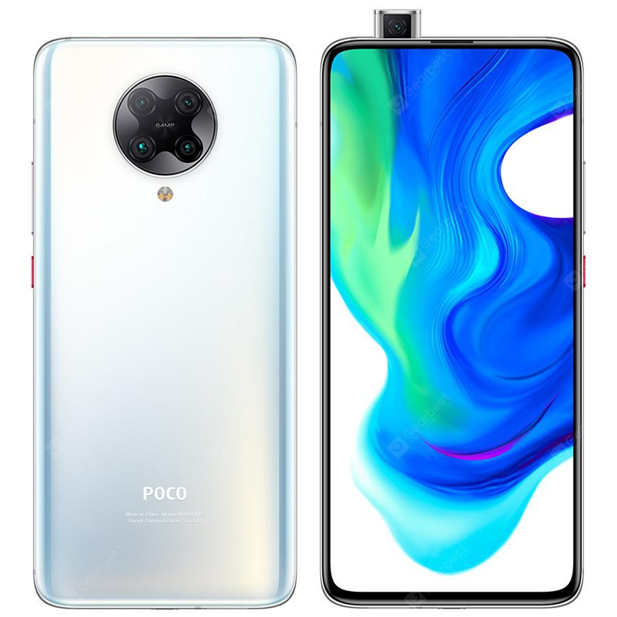 POCO F2 Pro 5G Smartphone 6.67 inch AMOLED Full Screen Mobile Phone with 20MP Pop up Front Camera  White HK 6GB 128GB