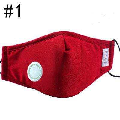 1Pcs Fashion Respirator Mask With Breathing Valve Washable Cotton Activated Carbon Filter PM2.5