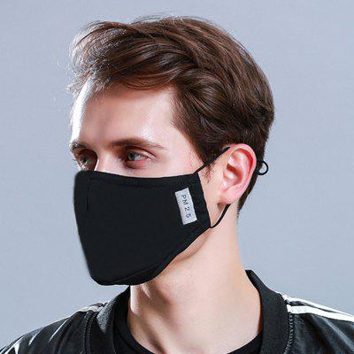 Cotton PM2.5 Black mouth Mask anti dust mask Activated carbon filter Windproof Mouth-muffle