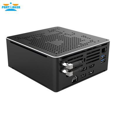Partaker Mini Gaming PC Intel Core i9 9980HK 8 Cores 16 Threads Desktop Computer 2 DDR4 2 M.2 NVMe Win10 Pro 4K HTPC HDMI DP Image