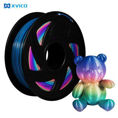 XVICO PLA Filament Rainbow color PLA Filament 3D Printer PLA Spool 1.75mm for Ender 3 CR10 Creality