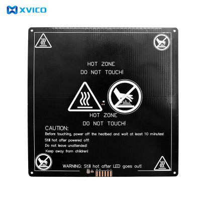 XVICO 3D Printer Aluminum Heated Bed 12V with Hotbed Wire Cable Line Hot Bed Size 220x220x3mm