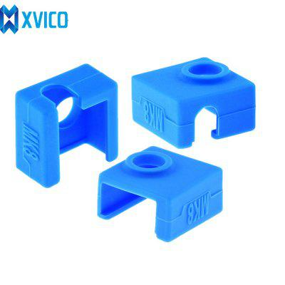 XVICO 3PCS MK8 Silicone Sock Heater Extruder Block Cover Hotend Case For  3d Printer