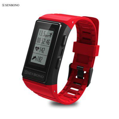 SENBONO S909 Outdoor GPS Tracker Smart Band HR Monitor de Fitness Tracker IP68 Pulseiras À Prova D 'Água