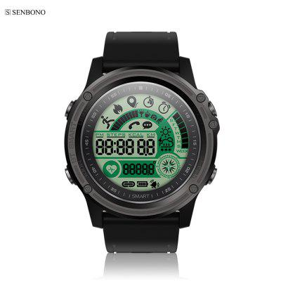 SENBONO S28 Sport tracker Stopwatch Smart Watch Compass Waterproof Remote Bluetooth 4.0
