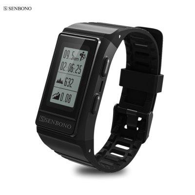 SENBONO S909 Tracker GPS extérieur Smart Band HR Monitor Fitness Tracker IP68 Bracelets étanches