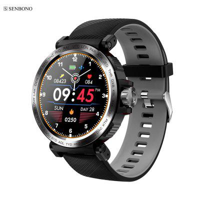 SENBONO S18 Full Screen Touch Smart Watch IP68 waterproof Sports Clock Heart Rate tracker