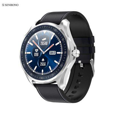 SENBONO S09 IP68 Étanche Montre Smart Watch Cardiofréquencemètre BP Hommes Fitness Sport Tracker Horloge