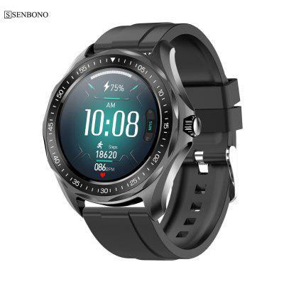 SENBONO S09plus IP68 Waterproof Smart Watch Heart Rate Blood Pressure Monitor Weather Smartwatch