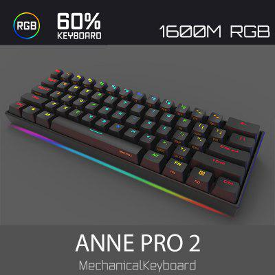 ANNE PRO 2 60 Percent NKRO Full RGB Mechanical Gaming Keyboard Cherry Gateron Kailh Switches