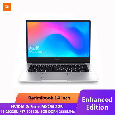 Ordinateur portable Xiaomi RedmiBook Pro 14,0 pouces i5 i7 NVIDIA GeForce MX250 8 Go DDR4 512 Go SSD Windows10
