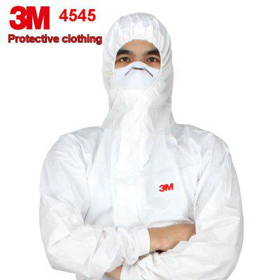 3M 4545 Protective Coverall Hooded Elastic Waist Clothing Anti Dry Particles Chemical Splash Suit