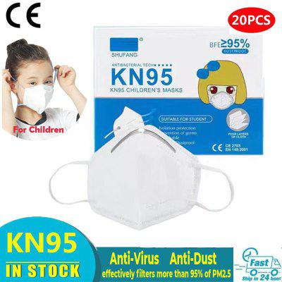 Children KN95 Anti Pollution Masks  FFP2 Dust PM2.5 Face For Kids Non-medical