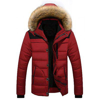 Fashion Winter Warm Jacket New Parka Coat With Removable Hoodie for Men