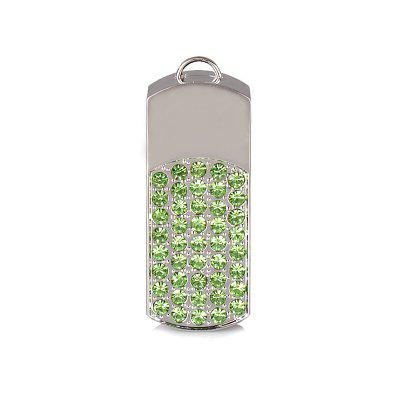8GB Metal and Crystal Rotated USB Flash Memory
