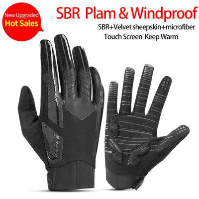 ROCKBROS Cycling Bike Gloves Touch Screen Windproof Long Gloves Warm Full FingerMotorcycle Gloves