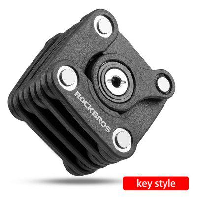 ROCKBROS Password Bike Bicycle Lock  Portable High Security Drill Resistant Lock Anti Theft Cylinder