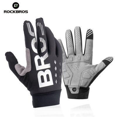 ROCKBROS Winter Cycling Bicycle Gloves Windproof Warm Gloves Motorcycle Snow Skiing Bike Glove