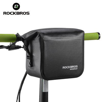 ROCKBROS Bike Bag Waterproof Handlebar Bag Front Tube Bike Basket Shoulder Pack Riding Cycling Bag