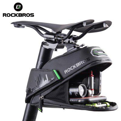 ROCKBROS Rainproof Bicycle Bag Shockproof Saddle Bag Reflective Rear Large Capacity Seatpost Bag