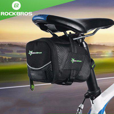 ROCKBROS Bicycle Bag With Lid Folding Saddle Bicycle Nylon Shockproof Cycling Rear Seatpost Tail bag