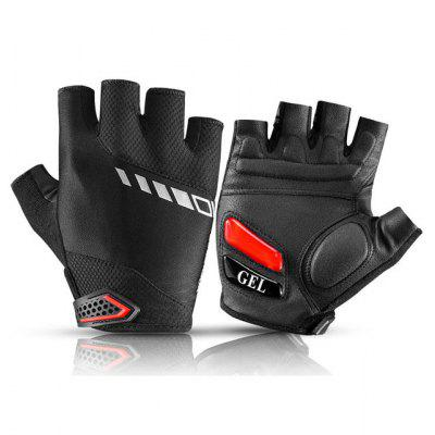 ROCKBROS Touch Screen Cycling Bike Gloves Autumn Spring MTB Bicycle GEL Pad Shockproof Half Finger Mittens