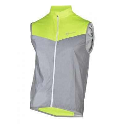 ROCKBROS Cycling Bike Bicycle Reflective Outdoor Vest Running Safety Jersey Sleeveless Breathable Night Walking Coat