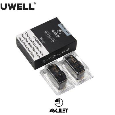Original Uwell Amulet Pod Cartridge 1.6ohm 2ml Capacity Refillable Pod Atomizer For E Cigarette