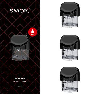 3pcs Original SMOK Nord Replacement Empty Pod 3ML Atomizer without coils Vaporizer for E Cigarette