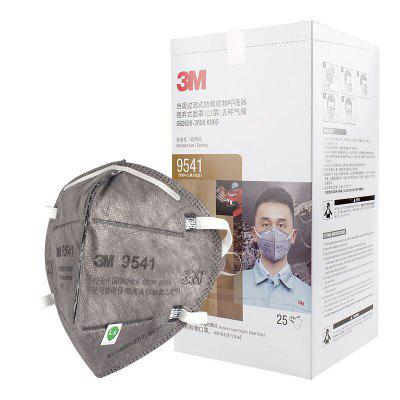 25PCS 3M 9541 KN95 Face Mask 5-ply Protection Comfortable Earloop Resist Viruses and Bacteria