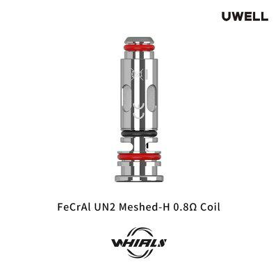 Uwell Whirl S Replacement Coil FeCrAI UN2 Meshed-H 0.8ohm Pro-FOCS Flavor Testing Technology for Kit Authentic 4pcs/Pack