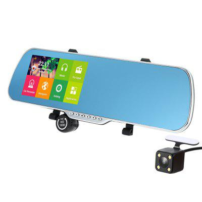 5 Inch Android Smart System GPS Navigation Car Rearview Mirror DVR