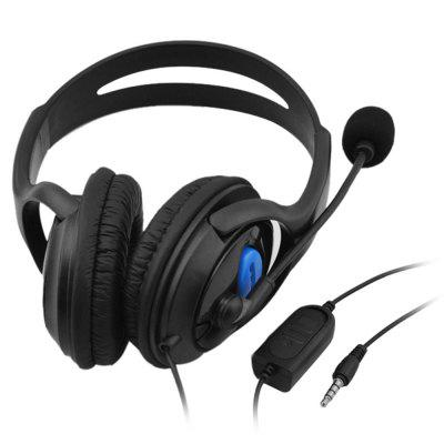 3.5mm Wired Gaming Headphones Over Ear Game Headset Stereo Bass Earphone with Microphone Volume Control for PC Laptop PS4 Smart Phone