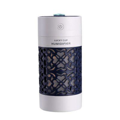 SQT-J01 250ml Hollow Carving Air Humidifier 3 in 1 for Car/Home/Office Ultra-quiet Multi-purpose Fan Night Light