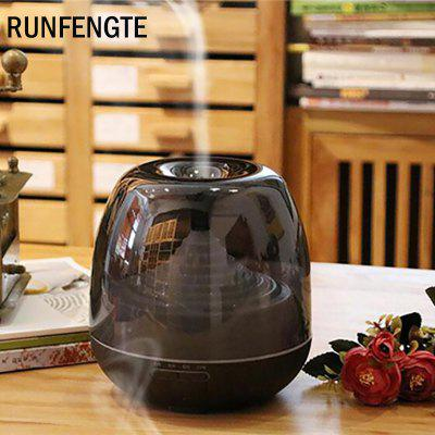 RUNFENGTE 500ml Aroma Diffuser Essential Oil Clear Air Humidifier With 7 Color Changing LED Lights