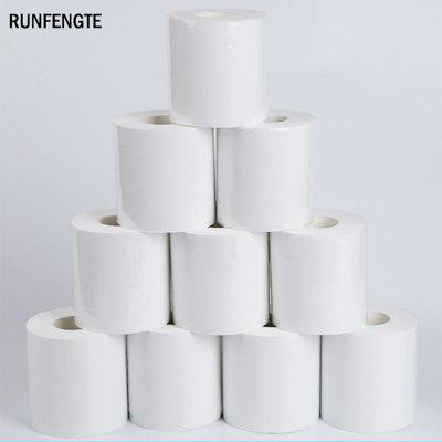 RUNFENGTE 10PCS White Bathroom Toilet Roll Paper Towels Tissue Roll Pack 9x14CM
