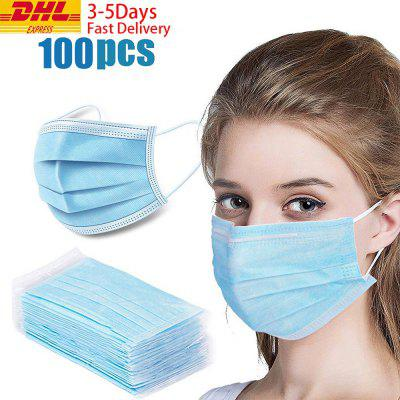 DHL TNT 100pcs Face Disposable mouth mask 3 Layer Dust Windproof Mask-Factory Supply