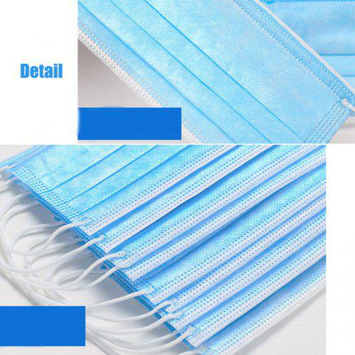 DHL TNT 50pcs Face Disposable mouth mask 3 Layer Cotton Dust Windproof Face Mask-Factory Supply