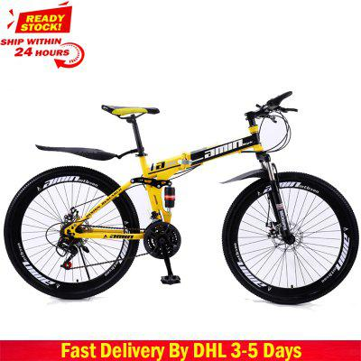 Bicycle 27 Variable Speed Mountain Bike Tire Road Bike Frame size 26 inch Product Unisex Resistance Image