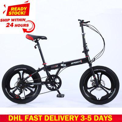 DHL Fast Delivery Folding Bicycle Mountain Bike 20-inch 18 16-inch Steel Variable Speed Bicycles Dual Disc Brakes Road Bikes Racing Bicycle Image