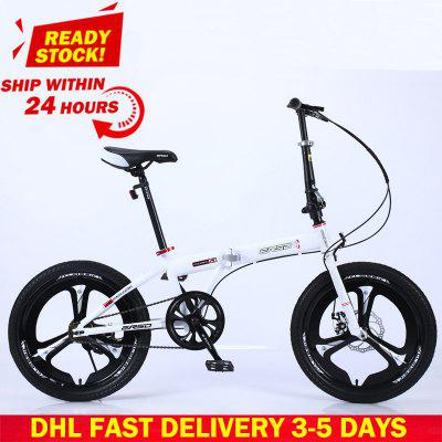 Foldable Bicycle Mountain Bike 20-inch 18 16-inch Steel Variable Speed Bicycles Dual Disc Brakes Variable Speed Road Bikes Racing Bicycle Image