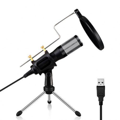 Professional USB Plug PC Microphone Free Drive Computer Podcast Condenser Mic Set for YouTube Broadcasting Recording Gaming Up to 2 Meters