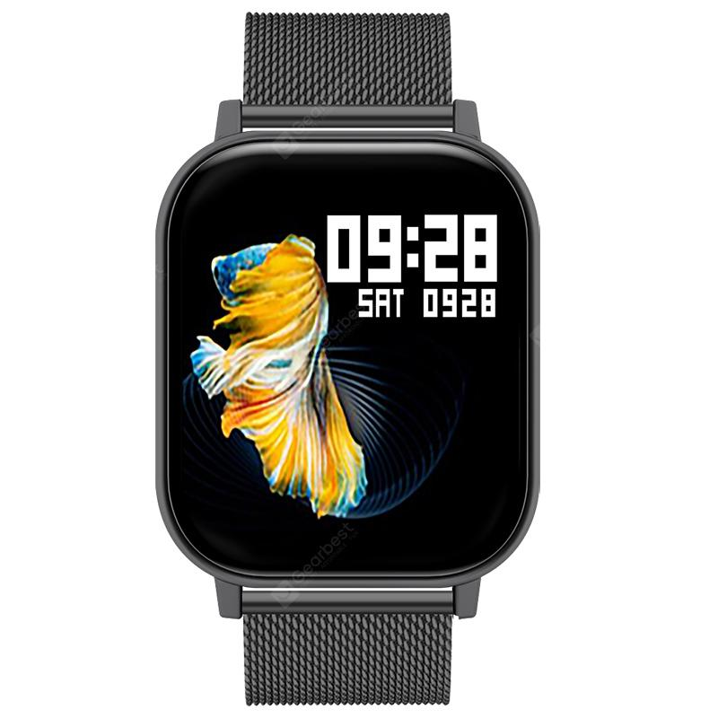 New GTX-H 1.6Inch Smart Watch Thermometer Body Temperature Oximeter Heart Rate Monitor Fitness Watch IP67 Music Control Sport Smartwatch Men Women