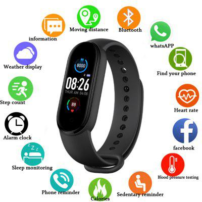 TWS M5 Smart Watch Remote Photo - Self Camera Bluetooth Fitness Sport Tracker Call Smartwatch Play Music Bracelet For iPhone ISO Android